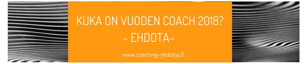 Kuka on vuoden Coach 2018