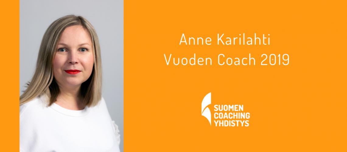 Anne Karilahti, Vuoden Coach 2019