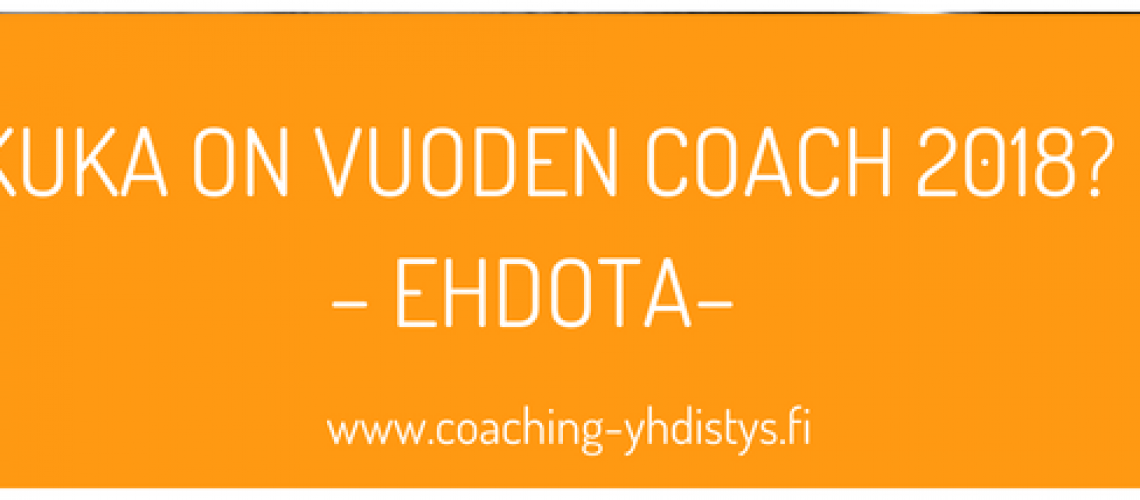 Kuka on vuoden Coach 2018