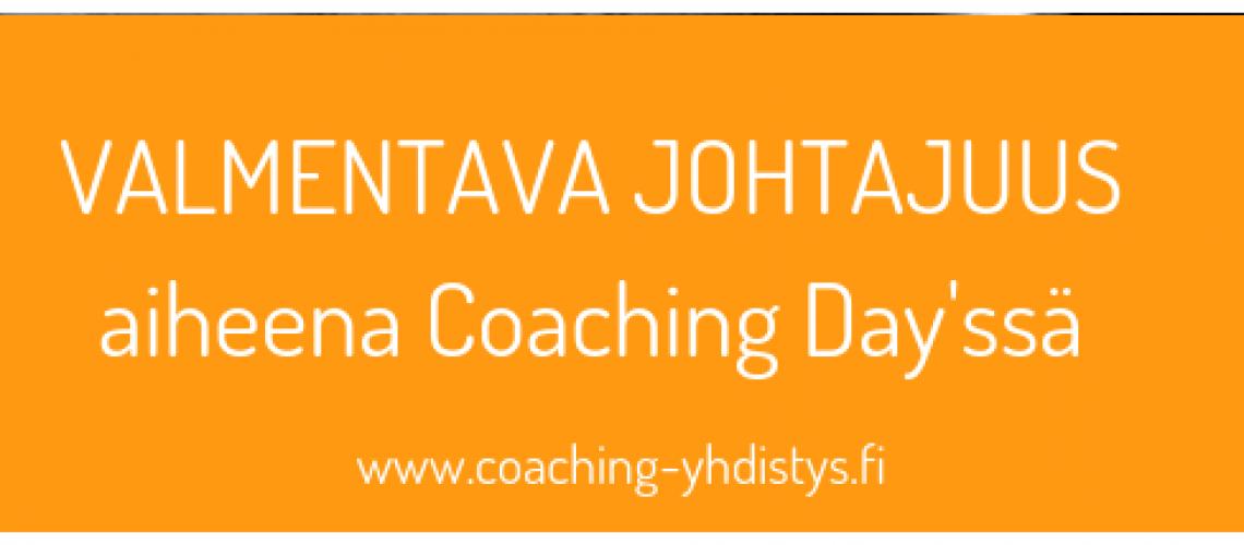Valmentava Johtajuus aiheena Coaching Day'ssä